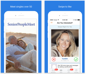 seniorpeoplemeet iPhone app screenshot 1