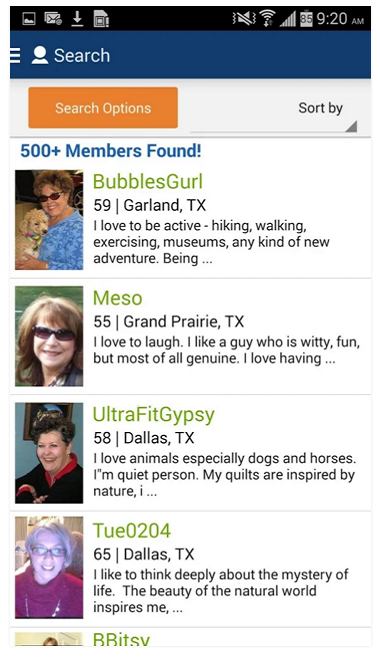seniorpeoplemeet Android app screenshot 3