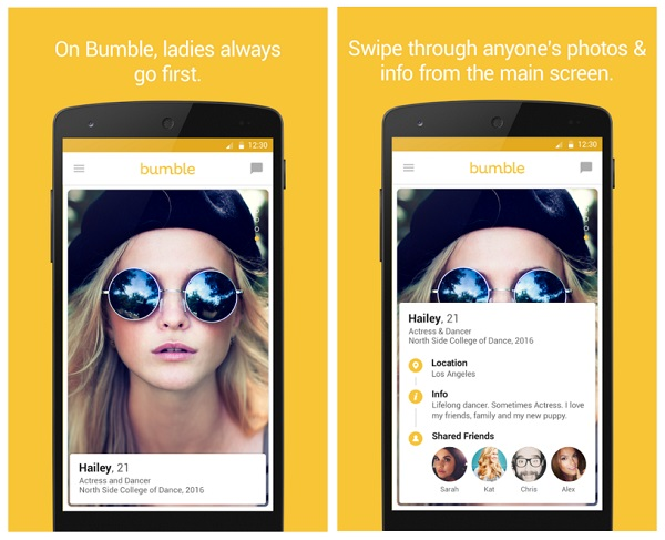 Bumble Android app screenshot 1