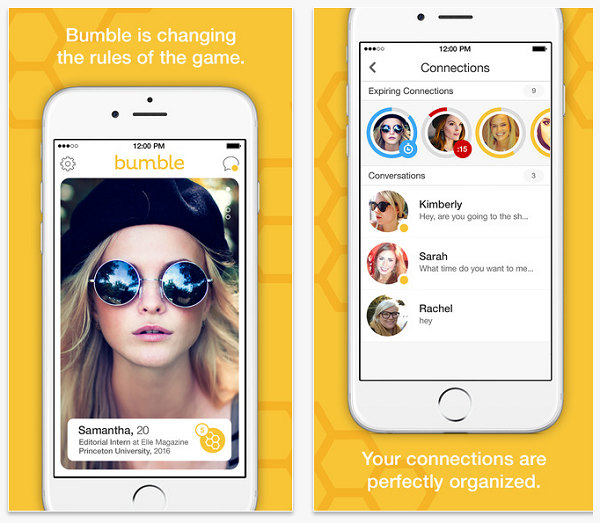 Bumble iPhone app screenshot 1