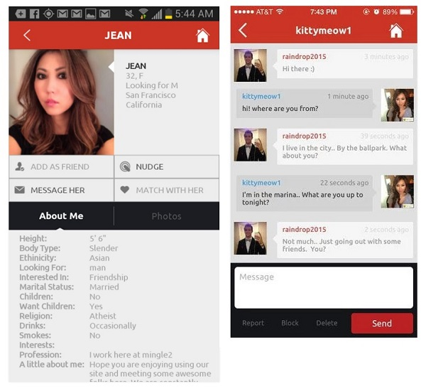 Mingle2 Android dating app screenshot 2