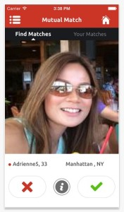 Mingle2 iPhone dating app screenshot 3