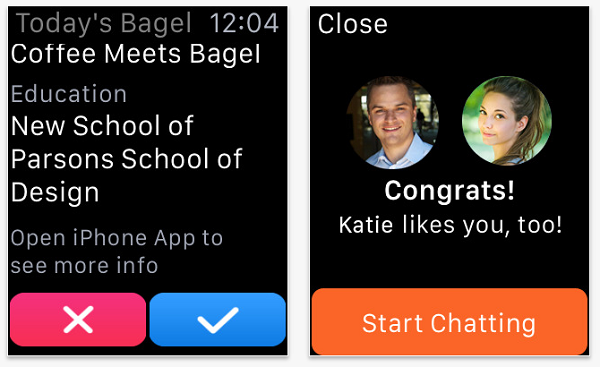 Kaffee trifft bagel-dating-apps
