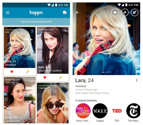 Happn Android App Screenshot 1