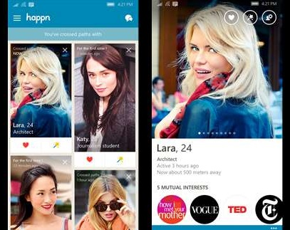 Happn Windows Phone App Screenshot 1