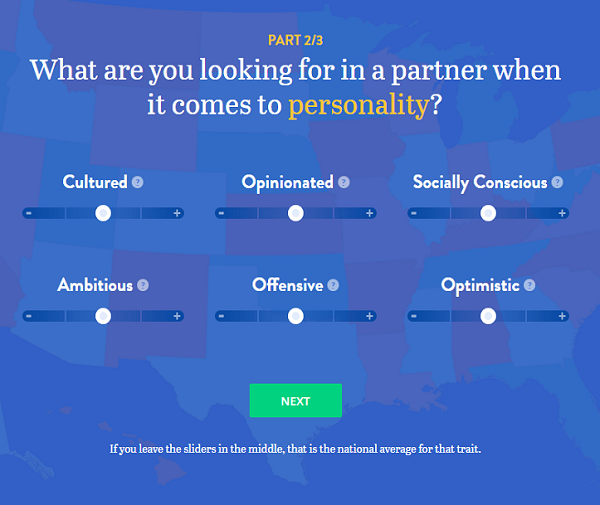 OkCupid Summer of Heat Map personality page screenshot