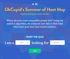 OkCupid Summer of Heat Map