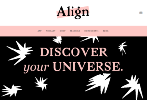Visit the Align dating website